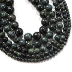 Malachite Green Natural Semi Precious Stone Round Beads Wholesale