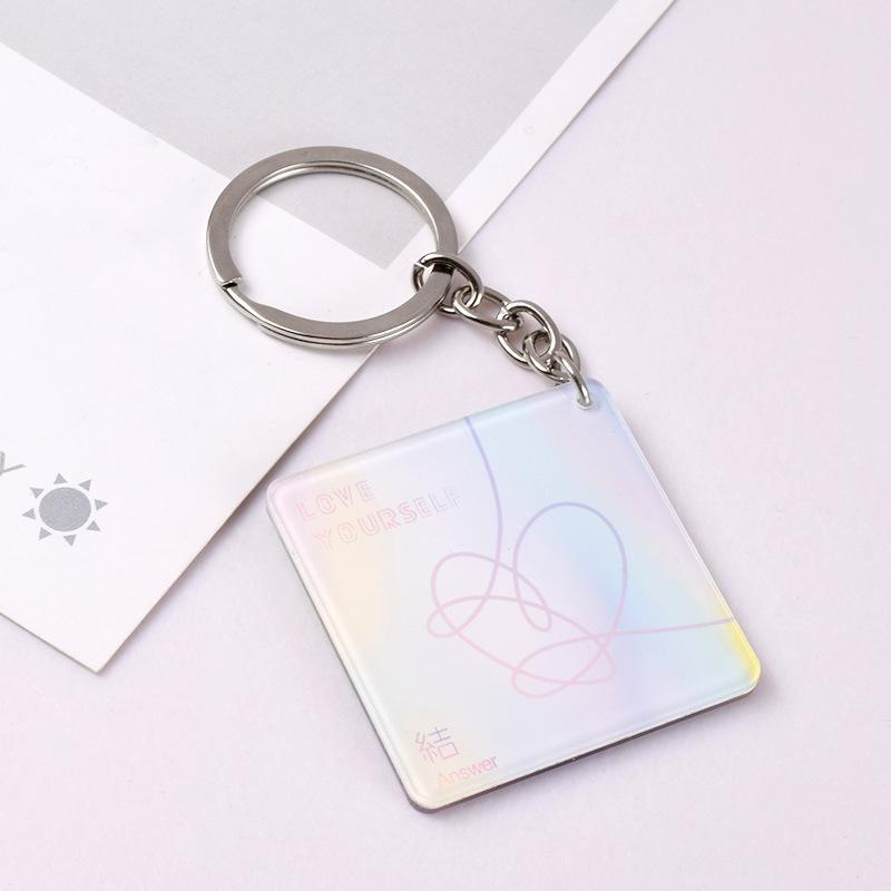 ANSWER Holographic Keyring - BTS accessories