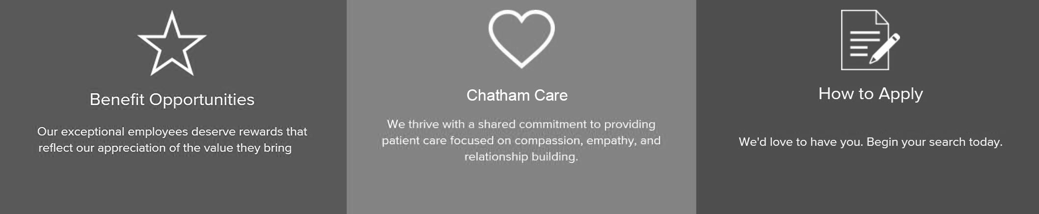 Chatham Care, PC - Career Page Banner