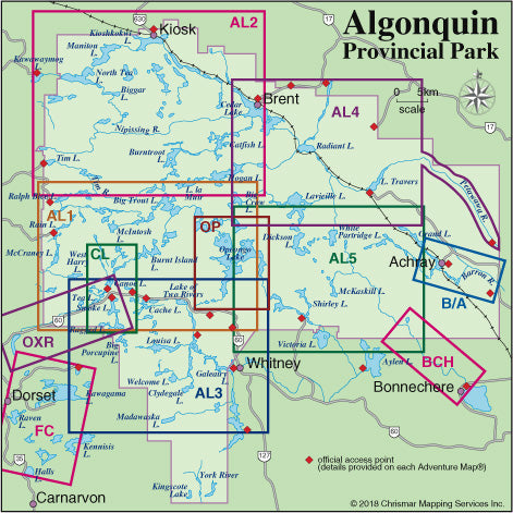 Map Locator Guide - Algonquin Area