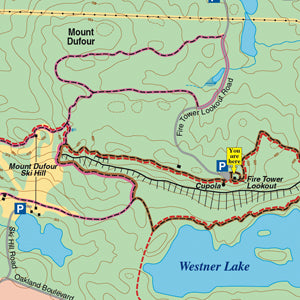 Elliot Lake Trails Map Sample Section