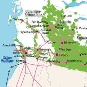 Telus Annual Report Map Sample Section