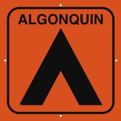 Campsite Sign, Large, Algonquin, Orange (A2000)