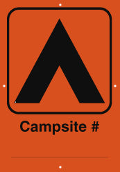Campsite Sign, Number, Orange (A1935)