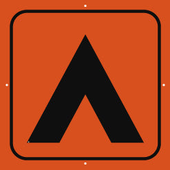Campsite Sign, Large, Plain, Orange (A1920)