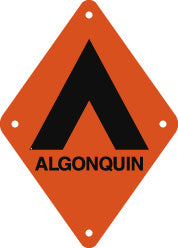 Campsite Sign, Small, Algonquin, Orange (A2010)