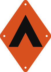 Campsite Sign, Small, Plain, Orange (A1900)