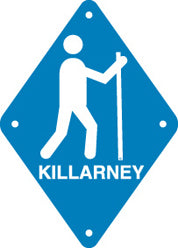 Hiker Sign, Small, Killarney, Blue (A2017)