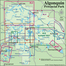 Load image into Gallery viewer, Algonquin Area Map Locator Guide