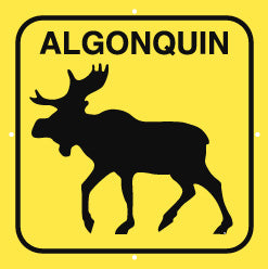 Moose Sign, Large, Algonquin, Yellow (A2002)