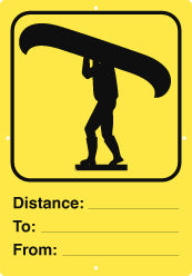 Portage Sign, Distance, Yellow (A1936)