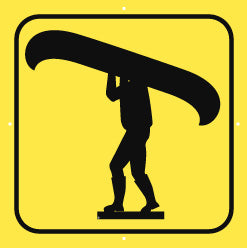 Portage Sign, Large, Plain, Yellow (A1930)