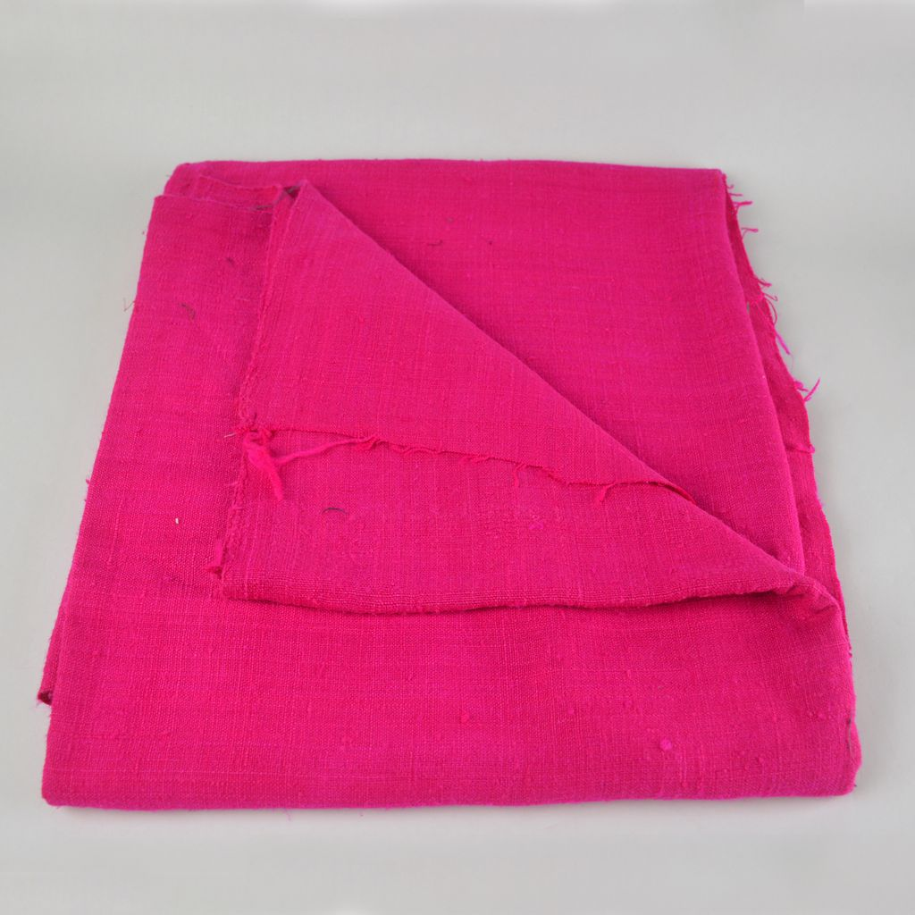 Light to Midweight Cotton Blend Woven Fabric - Hot Pink