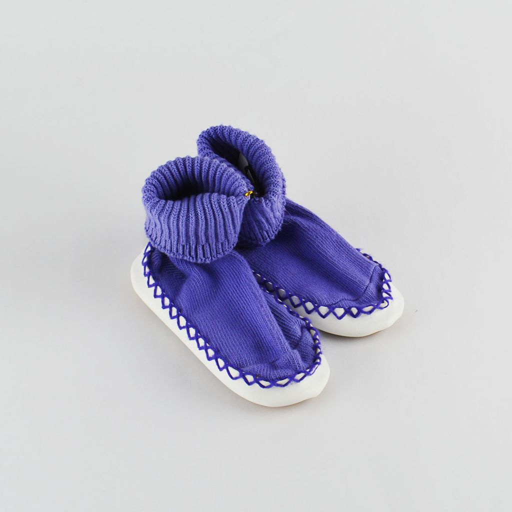 Purple Toddler Sock Slippers
