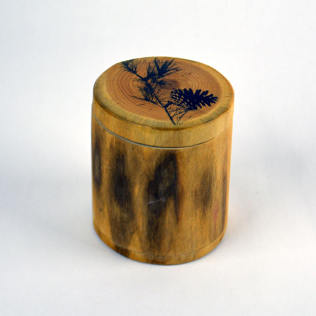 Wood Matchbox – Pine Cone