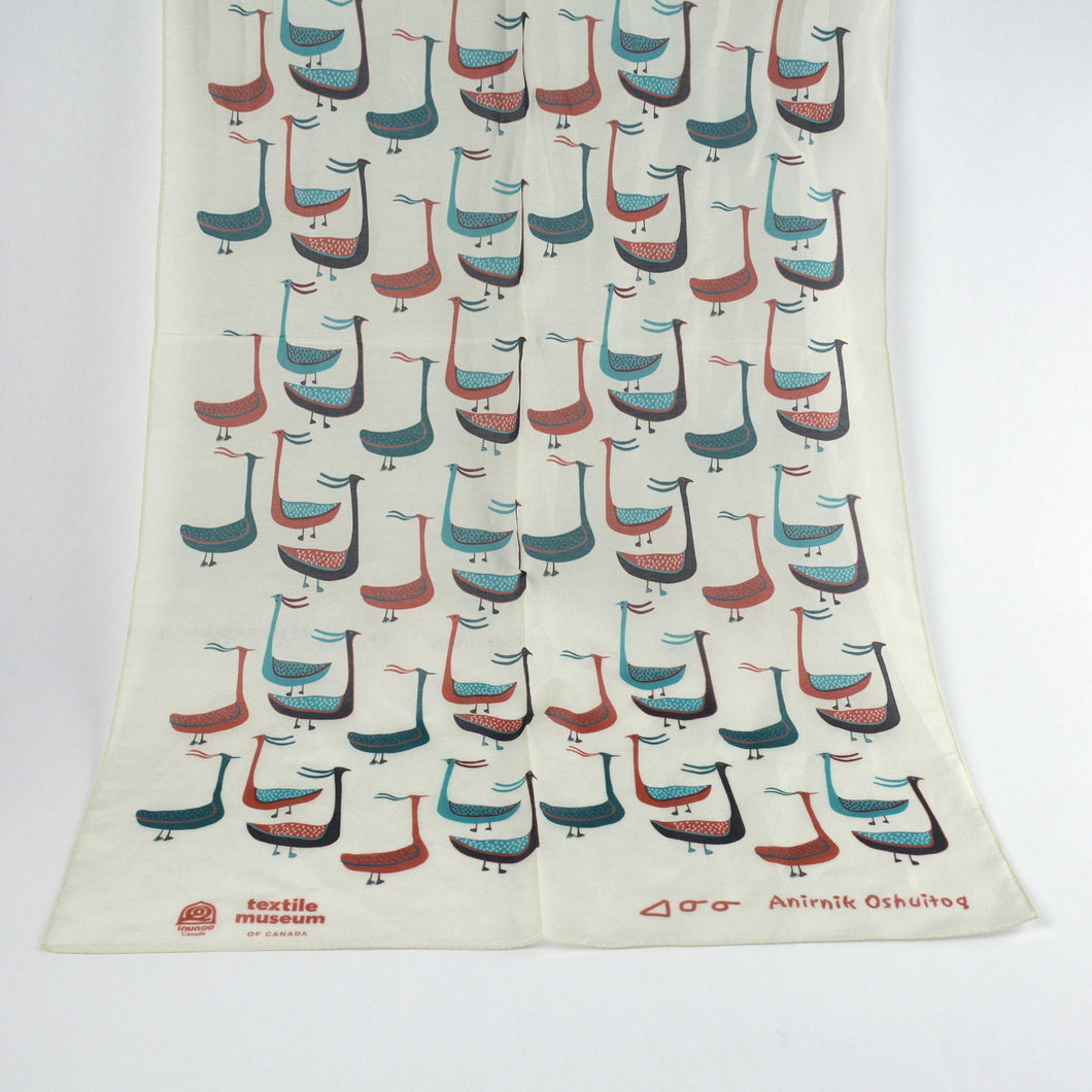 Kinngait Printed Scarf - Oshuitoq