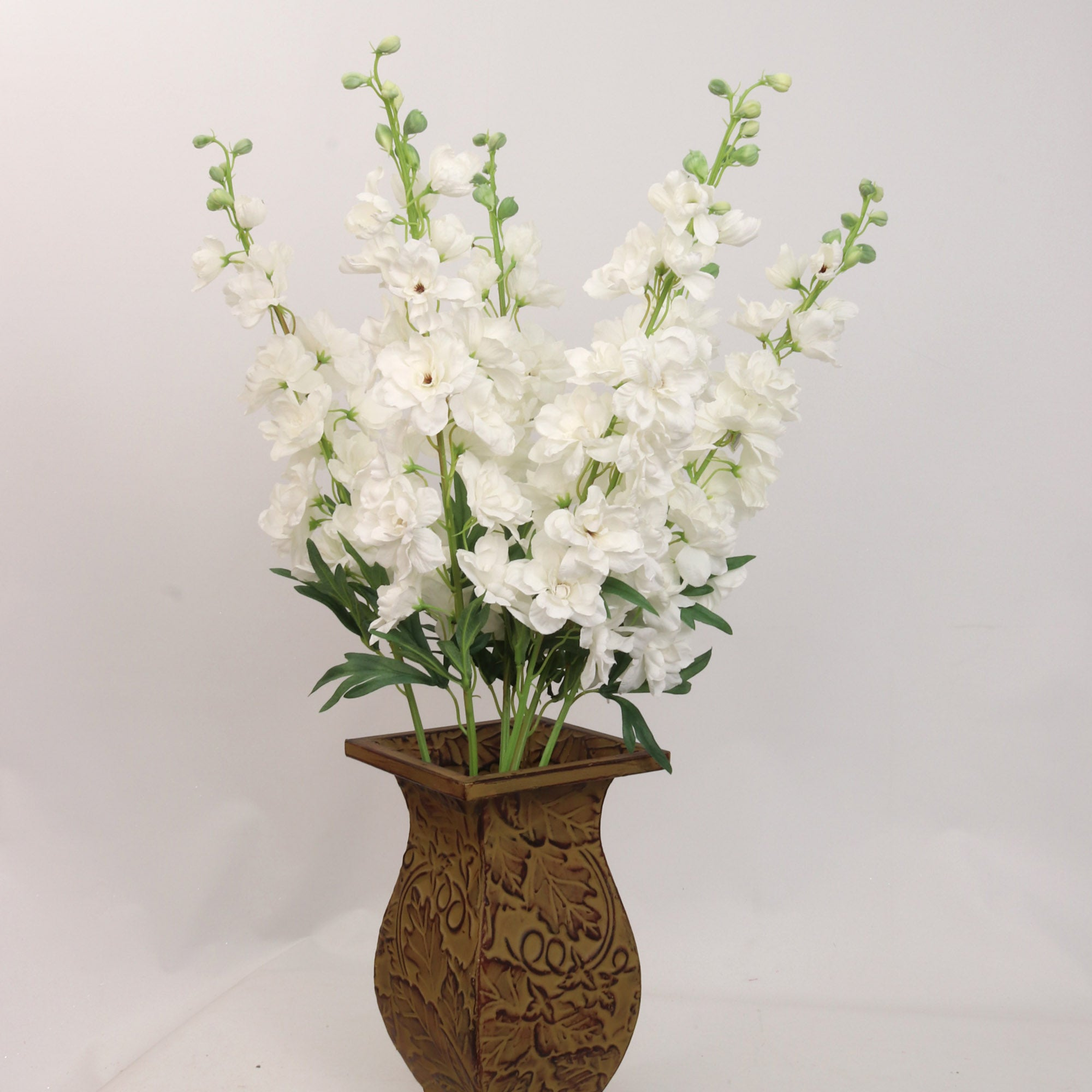 "Premium White 37"" 13 Flowers 10 Buds"