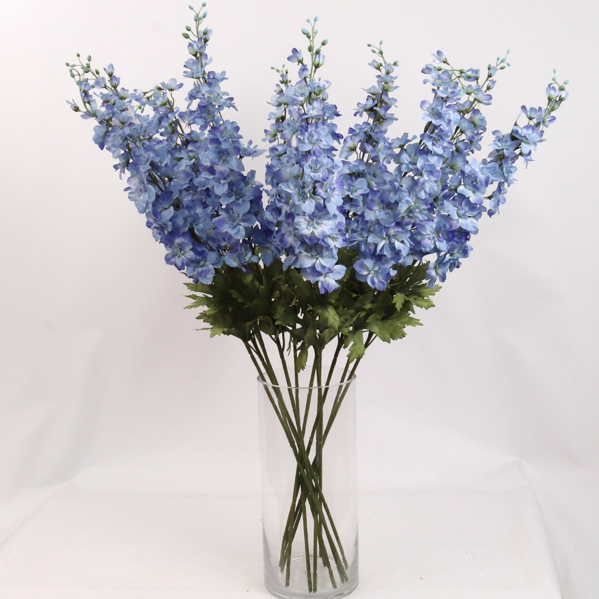 "Delphinium 37"" Long 25 Flowers 5 Buds"
