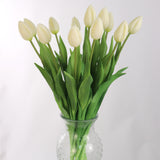 "Real Touch Silk Tulip 17"" Long Stem 2"" Tall 1"" Wide Head"