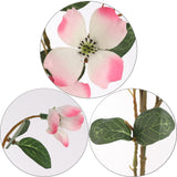 "Dogwood Branch 32"" with 24 Lifelike Pink Blooms"