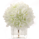 "Hydrangea Arrangement in 4"" x 4""  Glass Vase"