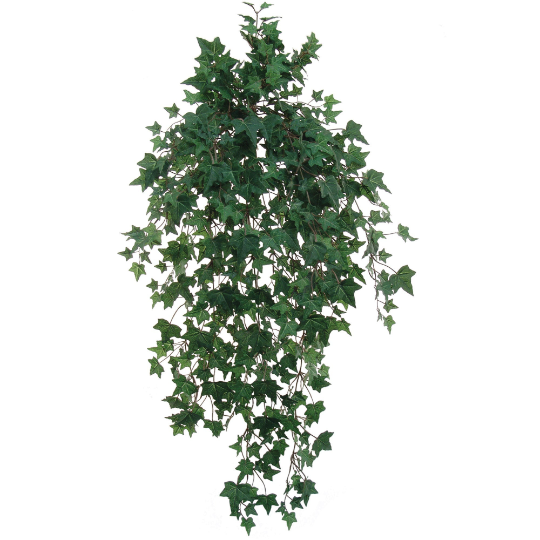 "Green Ivy Artificial Plant 38"" Hanging w/ 701 Needlepoint Leaves"