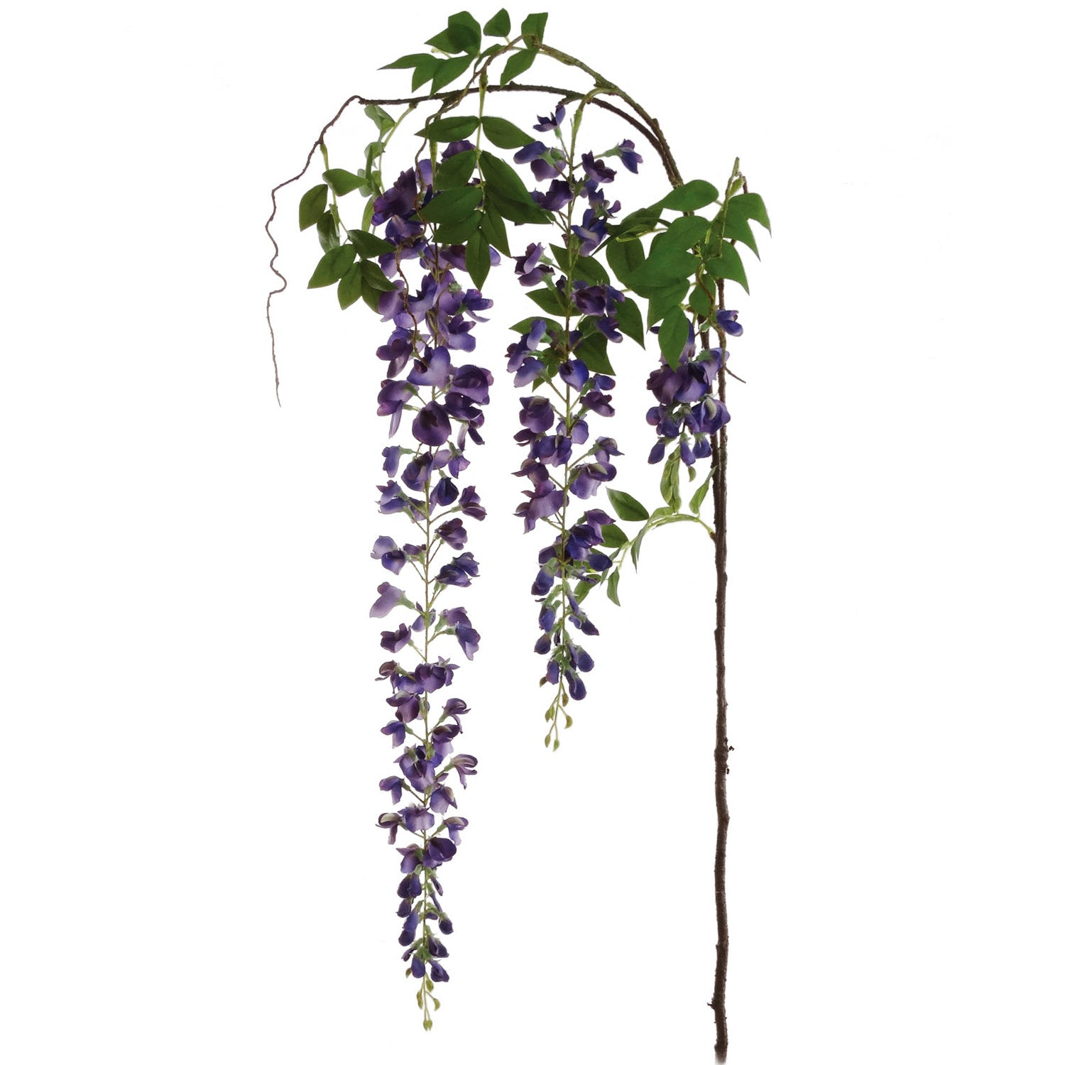 "Hanging Wisteria Branch 72"" Long w 2 Flowers"