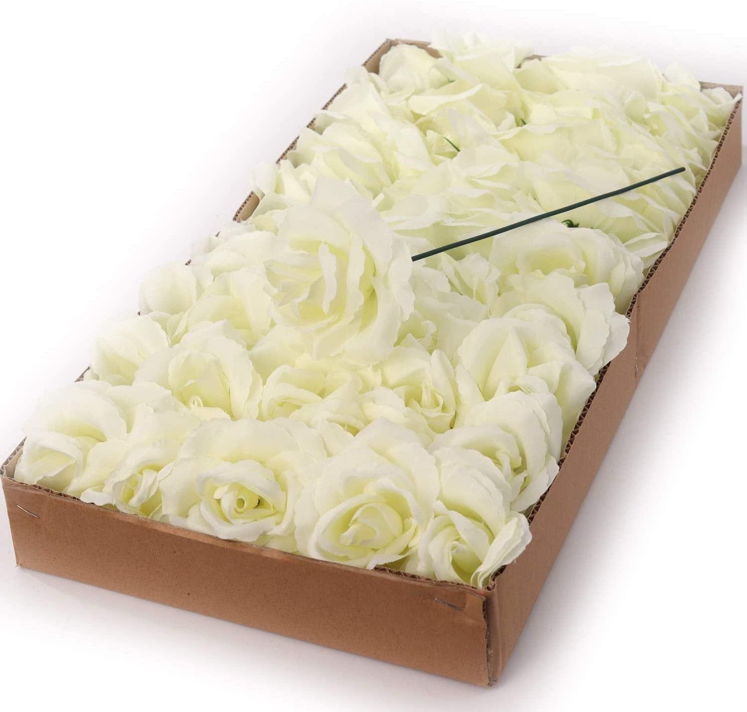 "Cream White  Rose Pick 8"" Long 3"" Wide Box of 50"