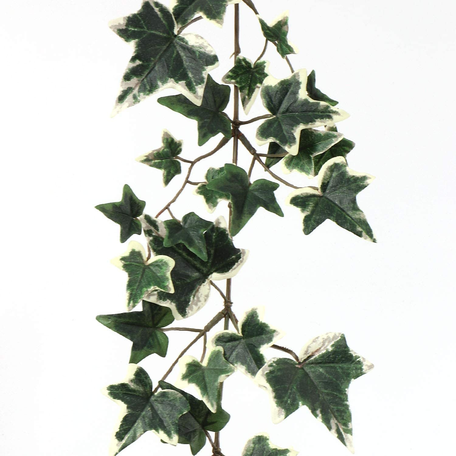 Green White Artificial 6 Foot Ivy Garland w/ 185 Leaves