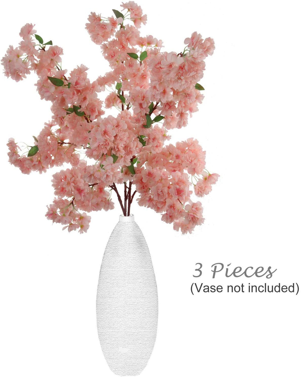 Silk Cherry Blossom , pack of Three 30 Inch Branches