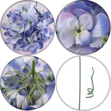 "Silk Hydrangea 7"" wide on 4.5"" Pick (10 Count)"