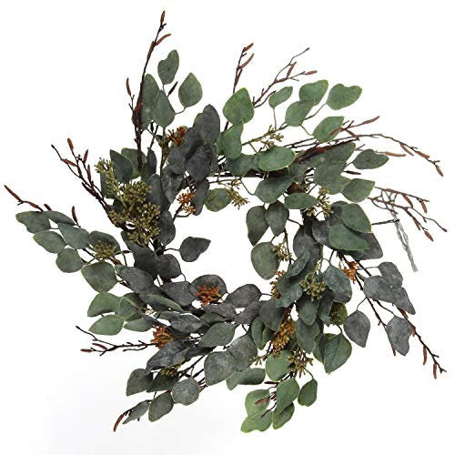 "20"" Green Eucalyptus Wreath,"