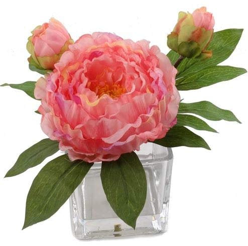 "Peony Arrangement in 4"" x 4"" Glass Vase"
