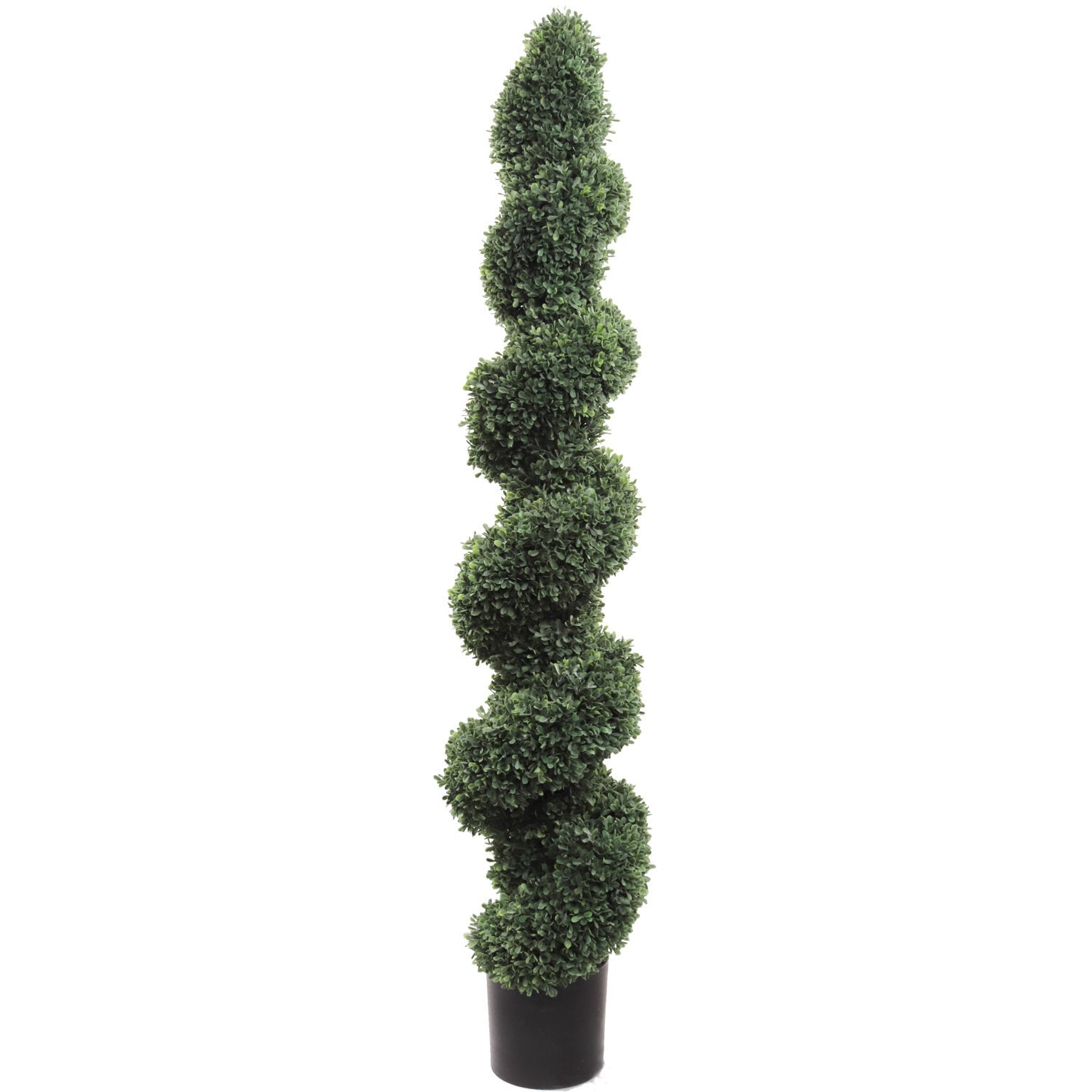 "Boxwood Spiral Topiary 58"" Artificial UV Indoor Outdoor"