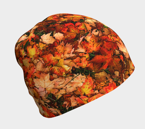 Bright Maple Leaf Bamboo Lined Beanie