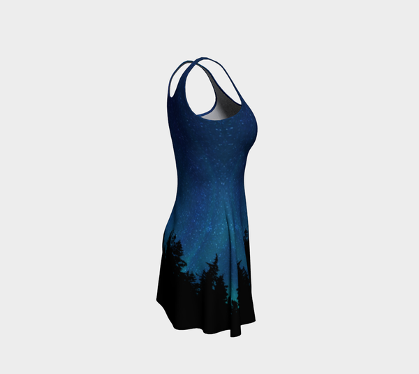 Northern Lights Sky Swing Flare Dress