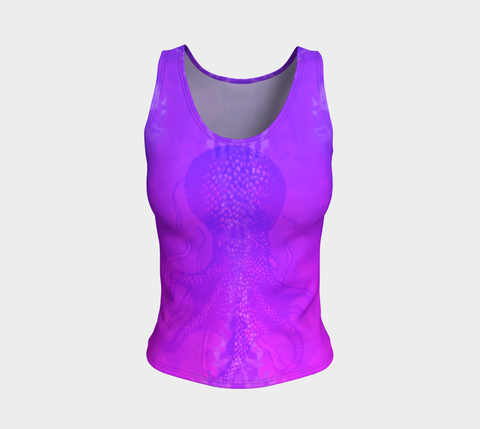 Ocean Lovers Octopus Fitted Tank Top - Regular