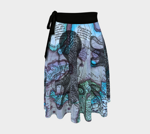 Ocean Lovers Octopus Mercator Wrap Skirt