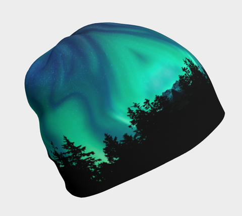 Northern Lights Sky Bamboo Lined Beanie