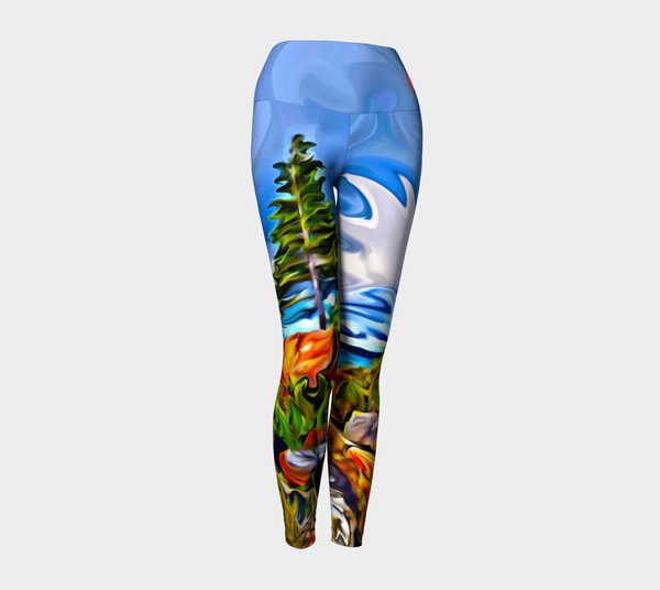 Yoga Pants Tights Leggings - Vibrant Ontario Summer Colors