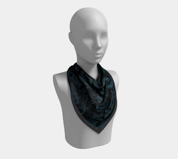 Ocean Lovers Square Night Dive Scarf