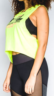 Syncopated Ladies EYE - Neon Cropped Muscle Tank