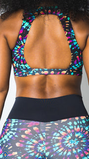 Chloe and Maud - Unilove Sports Bra & Legging Set - Black Tie Dye