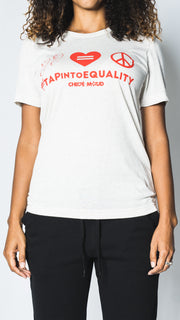 Tap Into Equality  - Beige T-Shirt