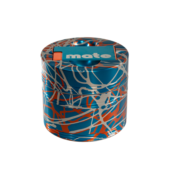 Mama P's Grinder 3 Color Light Blue, Orange, and Silver