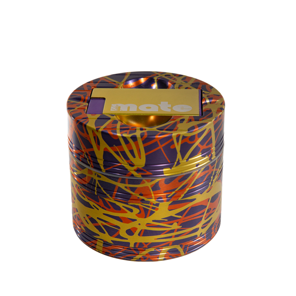 Mama P's Grinder 3 Color Orange, Gold, and Purple