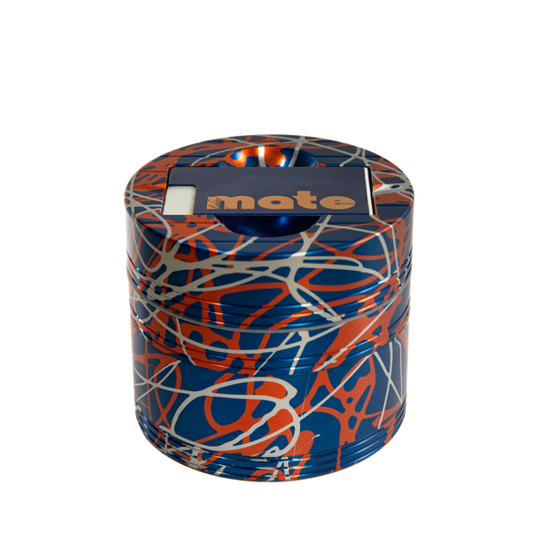 Mama P's Grinder 3 Color Blue, Orange, and Silver
