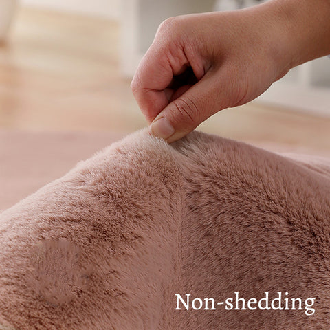 Extra Thick Nordic Faux Fur Microfiber Rug_Non-shedding