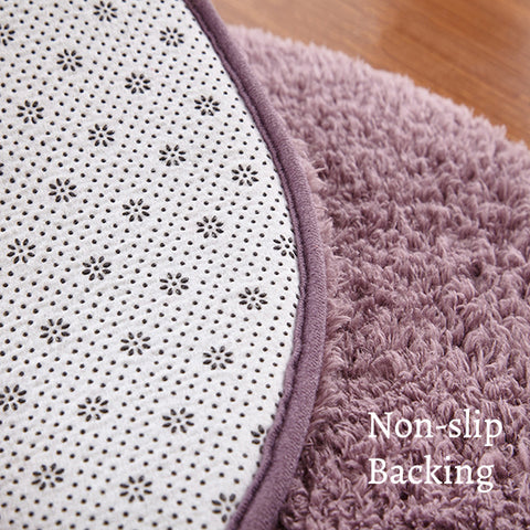 Airy Delicate Microfiber Area Rug_Non-slip Backing