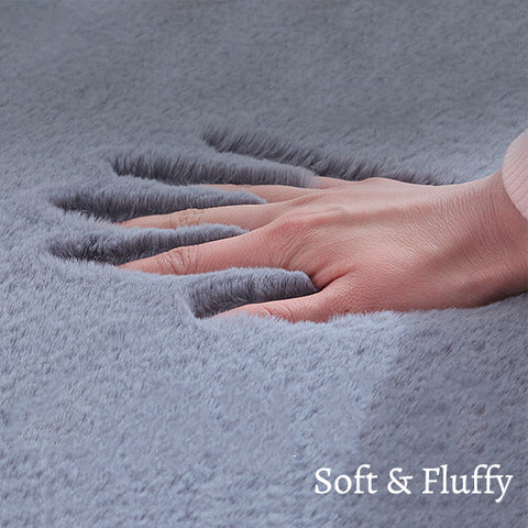 Extra Thick Nordic Faux Fur Microfiber Rug_Soft & Fluffy